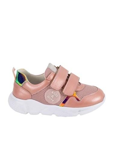 Kids A More Adria Air File Detaylı Deri Kız Çocuk Sneaker  Pudra